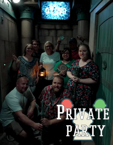 private party group in escape game